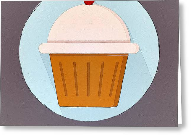 Interior Still Life Digital Art Greeting Cards - Will Work For Cupcakes Greeting Card by Florian Rodarte