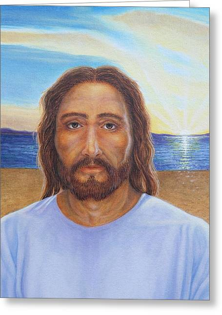 The Sun God Greeting Cards - Will You Follow Me - Jesus Greeting Card by Michele Myers