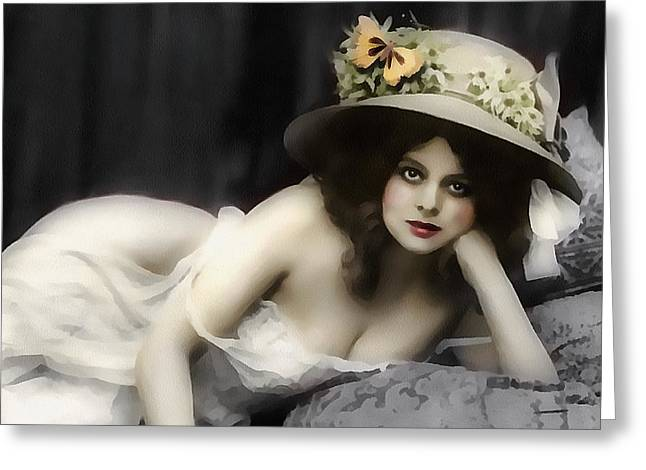 Semi-nude Greeting Cards - Will You Love Me In The Morning Greeting Card by Georgiana Romanovna