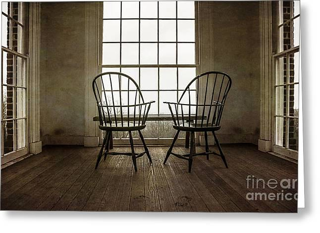 Monticello Greeting Cards - Will You Sit with Me? Greeting Card by Terry Rowe