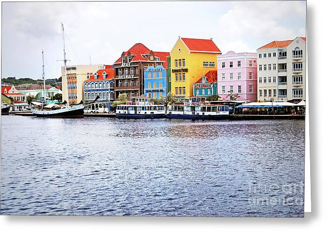 Antilles Greeting Cards - Willemstad Curacao Greeting Card by Photodream Art