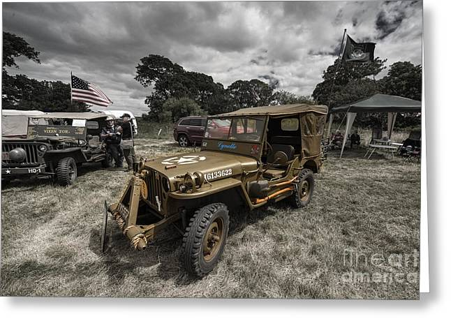 Rally Greeting Cards - Willeys Jeep  Greeting Card by Rob Hawkins