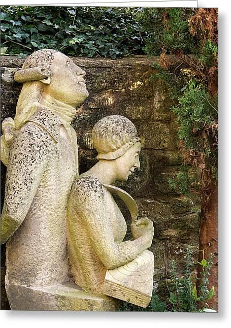 William And Caroline Herschel Sculpture Greeting Card by Sheila Terry