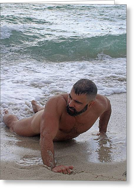 Beach Photos Greeting Cards - William at the beach Greeting Card by Chris  Lopez