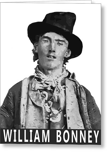 Billy The Kid Greeting Cards - WILLIAM BONNEY A K A BILLY the KID Greeting Card by Daniel Hagerman
