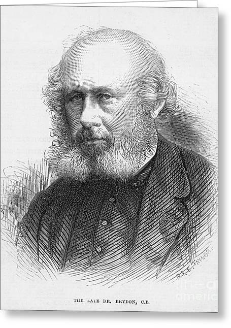 Sideburns Greeting Cards - William Brydon (1811-1873) Greeting Card by Granger