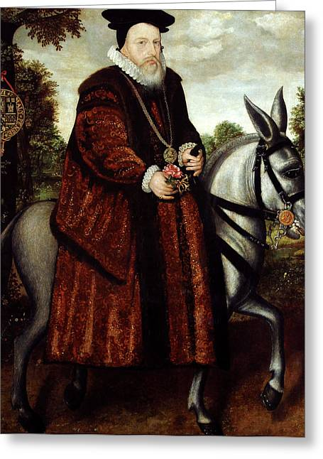 William Cecil Greeting Card by Bodleian Museum/oxford University Images