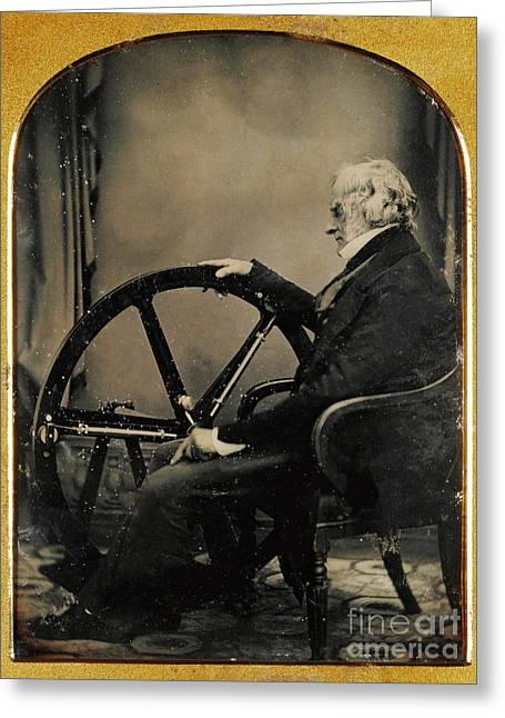 Self-portrait Photographs Greeting Cards - William Constable With Regulator, 1854 Greeting Card by Getty Research Institute