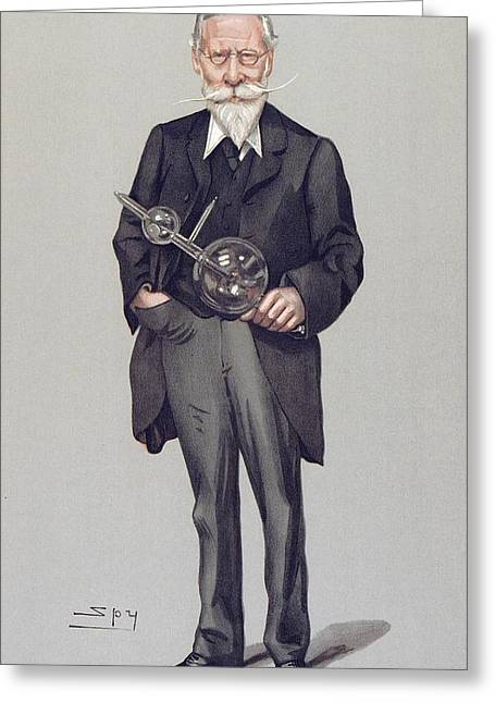 William Crookes And Vacuum Tube, 1903 Greeting Card by Science Photo Library