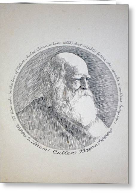 New York Evening Post Greeting Cards - William Cullen Bryant Greeting Card by Henry Goode