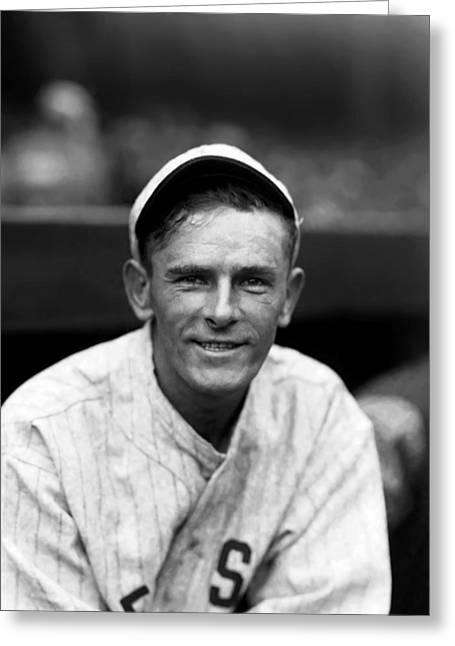 Boston Red Sox Greeting Cards - William E. Bill Narleski Greeting Card by Retro Images Archive