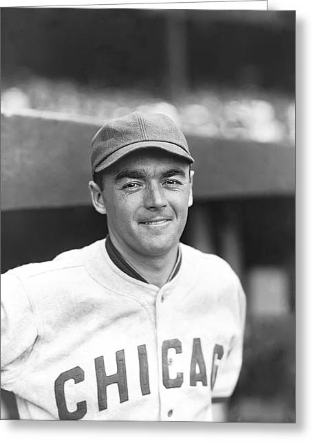 Baseball Uniform Greeting Cards - William E. Willie Kamm Greeting Card by Retro Images Archive