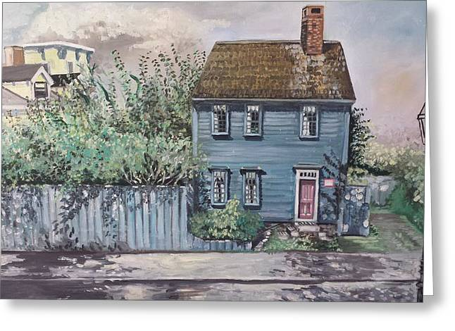 Declaration Of Independance Greeting Cards - William Ellery House Greeting Card by Rosemary Kavanagh