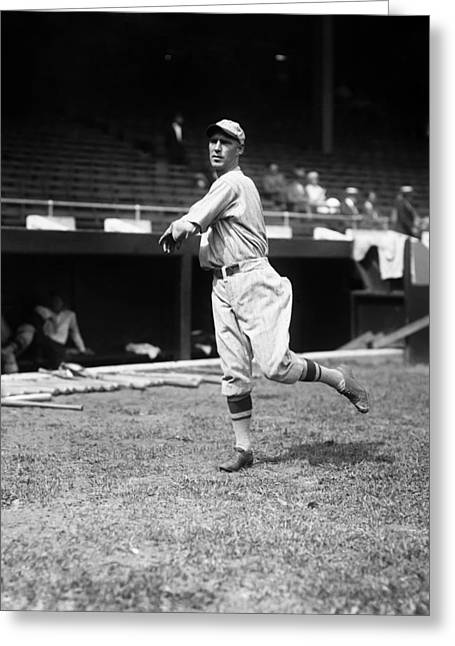 National League Baseball Photographs Greeting Cards - William H. Bill Sherdel Greeting Card by Retro Images Archive