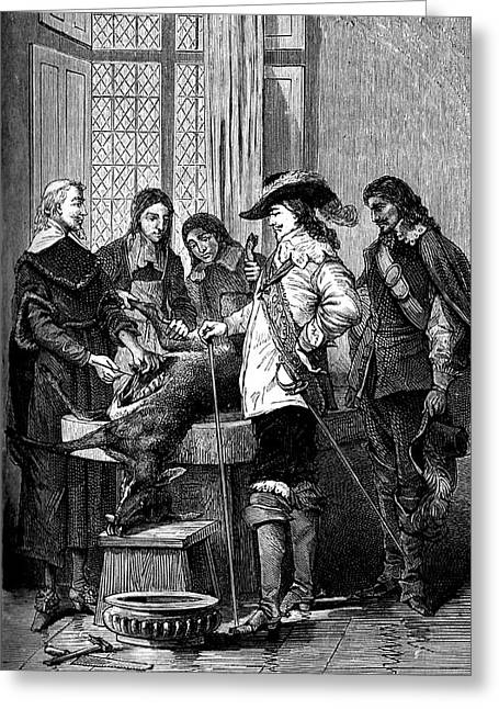 William Harvey And Charles I Greeting Card by Collection Abecasis