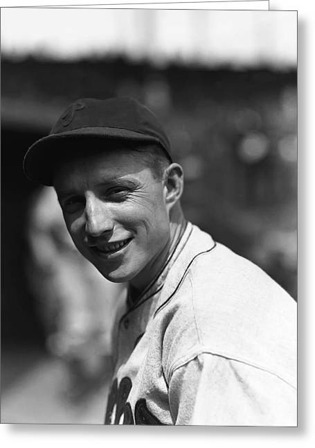 """World Series Greeting Cards - William Henry """"Bucky"""" Walters Greeting Card by Retro Images Archive"""