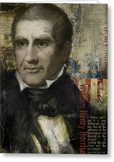 William Henry Harrison Greeting Cards - William Henry Harrison Greeting Card by Corporate Art Task Force