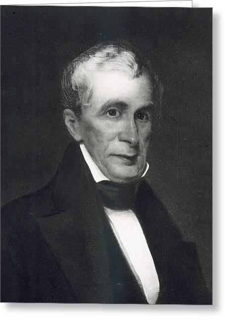 William Henry Harrison Greeting Card by Eliphalet Frazer Andrews