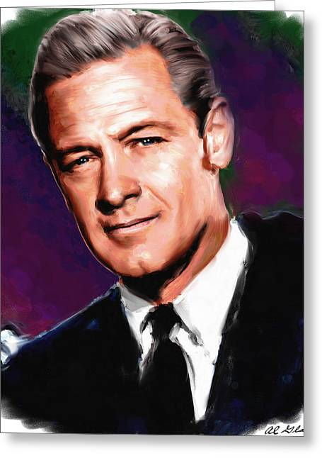 Allen Glass Greeting Cards - William Holden Greeting Card by Allen Glass