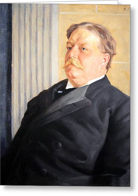 Chief Justice Greeting Cards - William Howard Taft Greeting Card by Cora Wandel