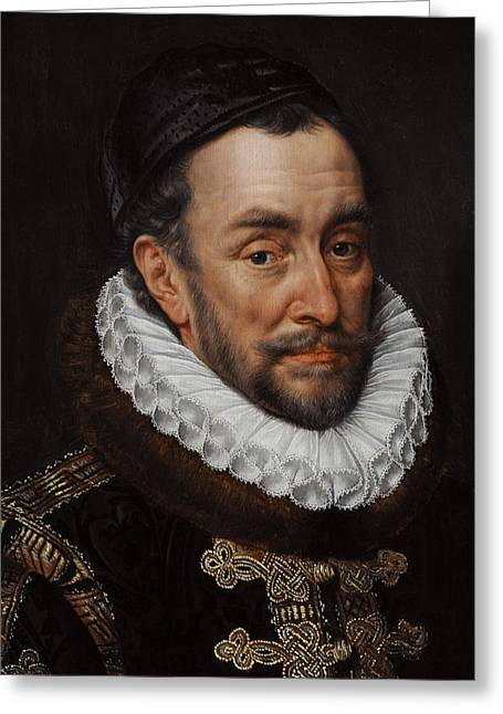16th Greeting Cards - William I, Prince Of Orange 1533-1584, C. 1579, By Adriaen Thomasz Key C.1544-1589 Greeting Card by Bridgeman Images