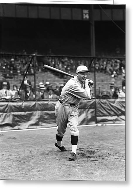 Red Sox Game Greeting Cards - William J. Bill Sweeney Greeting Card by Retro Images Archive