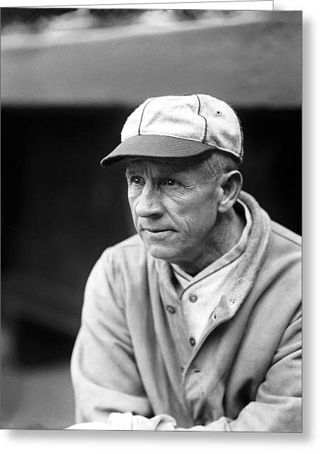 Manager Greeting Cards - William J. Kid Gleason Greeting Card by Retro Images Archive