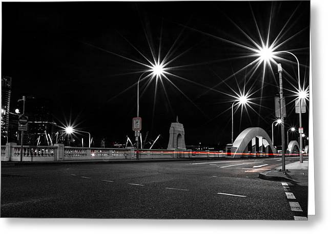 Long Street Greeting Cards - William Jolly Bridge At Night Greeting Card by Parker Cunningham