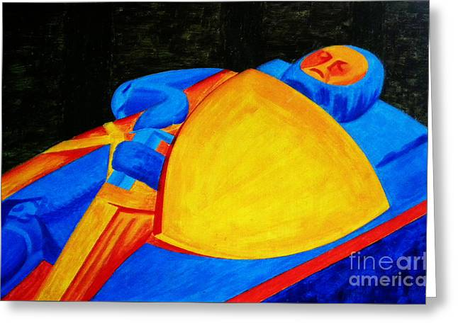Knights Castle Mixed Media Greeting Cards - William Longspee Greeting Card by Neil Finnemore