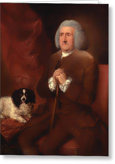 Senior Dog Greeting Cards - William Lowndes - A Auditor of His Majestys Court of Exchequer  Greeting Card by Thomas Gainsborough
