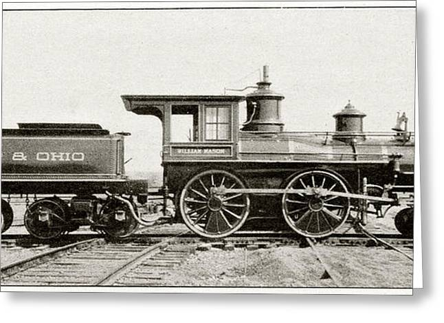 William Mason Locomotive Greeting Card by Cci Archives