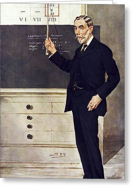 1800s Greeting Cards - William Ramsay, Scottish chemist Greeting Card by Science Photo Library