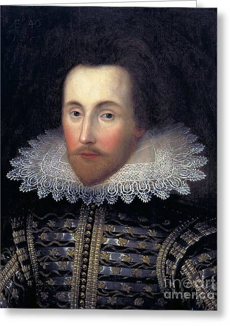Romance Renaissance Greeting Cards - William Shakespeare, English Playwright Greeting Card by Folger Shakespeare Library