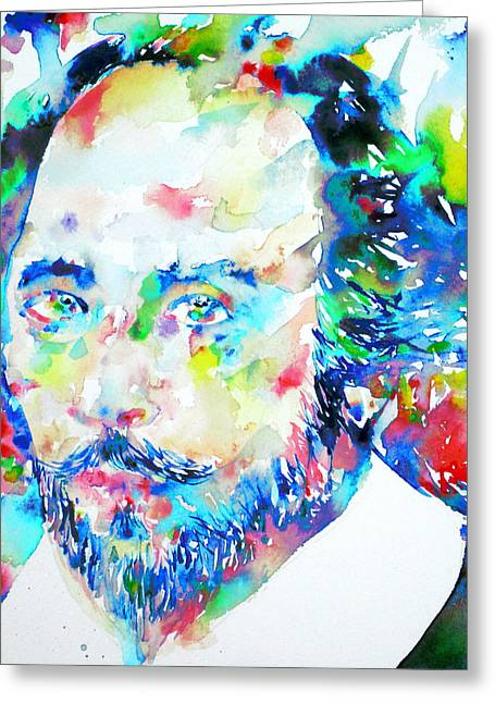Bard Greeting Cards - WILLIAM SHAKESPEARE - watercolor portrait Greeting Card by Fabrizio Cassetta