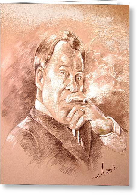 William Shatner As Denny Crane In Boston Legal Greeting Card by Miki De Goodaboom