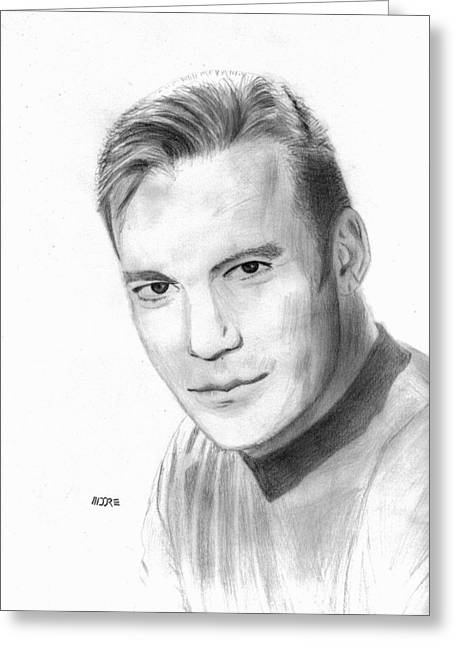 William Shatner - Capt. Kirk Greeting Card by Pat Moore