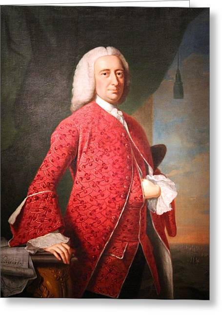 1701 D Greeting Cards - William Shirley Greeting Card by Cora Wandel