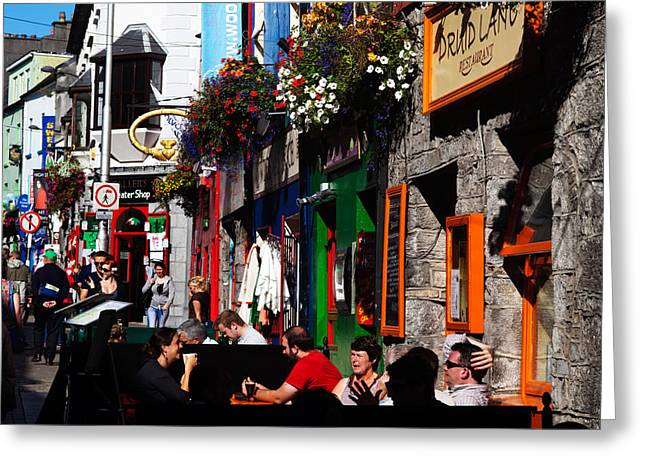 Enterprise Greeting Cards - William Street, Galway City, Ireland Greeting Card by Panoramic Images