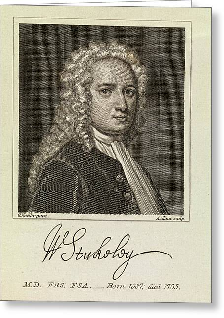 William Stukeley Greeting Card by Middle Temple Library