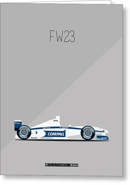 Pablo Greeting Cards - Williams BMW FW23 F1 Greeting Card by Florian Rodarte