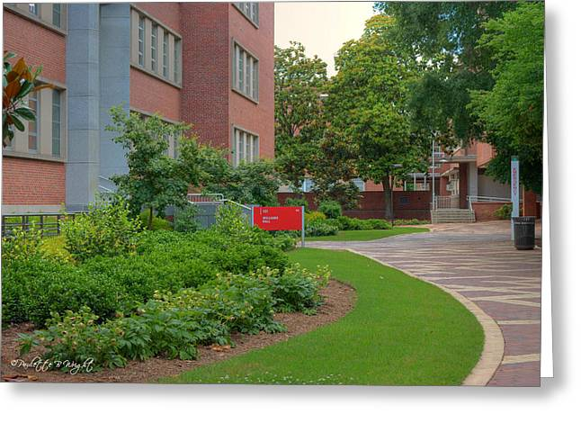 Nature Study Digital Art Greeting Cards - Williams Hall - NC State Main Campus Greeting Card by Paulette B Wright