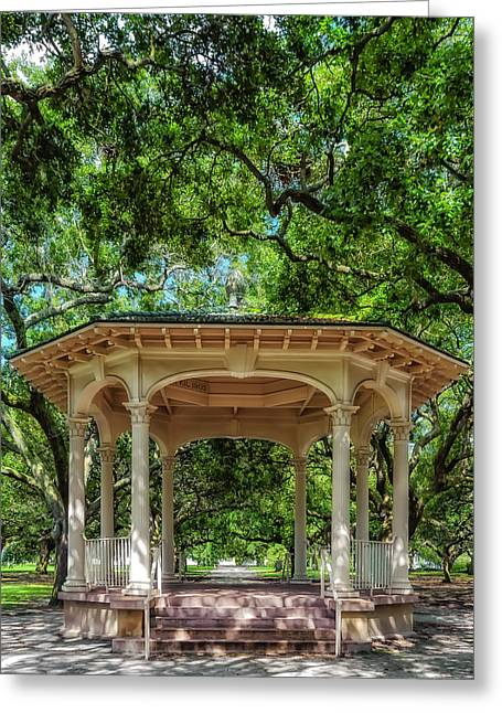 Historical Pictures Greeting Cards - Williams Music Pavilion - Charleston Greeting Card by Frank J Benz