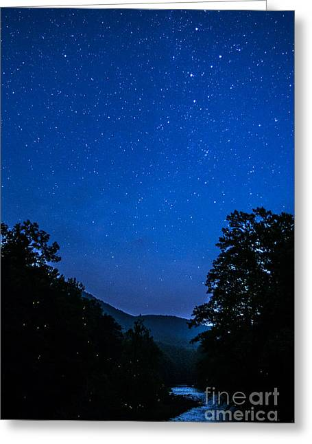 Lightning Bug Greeting Cards - Williams River and Stars Greeting Card by Thomas R Fletcher