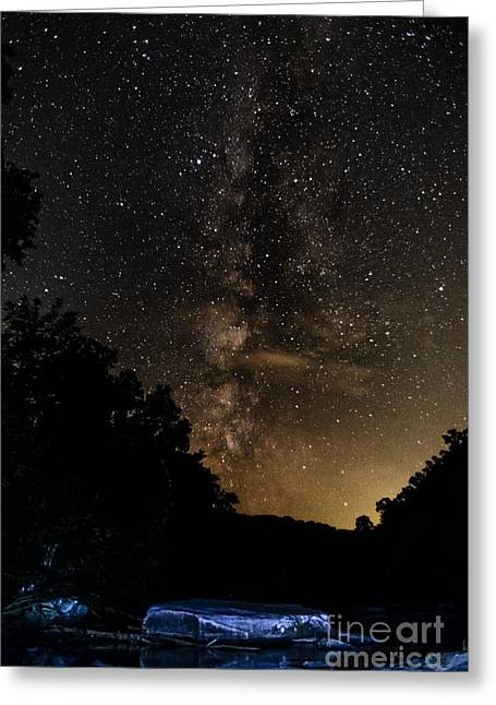 Trout Stream Landscape Greeting Cards - Williams River Milky Way Greeting Card by Thomas R Fletcher