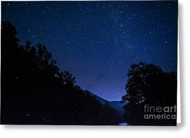 Lightning Bug Greeting Cards - Williams River Summer Solstice Night Greeting Card by Thomas R Fletcher