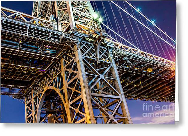 Mood Greeting Cards - Williamsburg Bridge 1 Greeting Card by Az Jackson