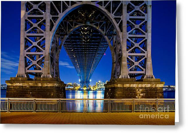 Mood Greeting Cards - Williamsburg Bridge 2 Greeting Card by Az Jackson