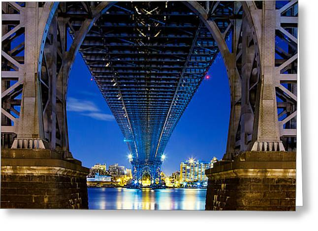 Mood Greeting Cards - Williamsburg Bridge 4 Greeting Card by Az Jackson