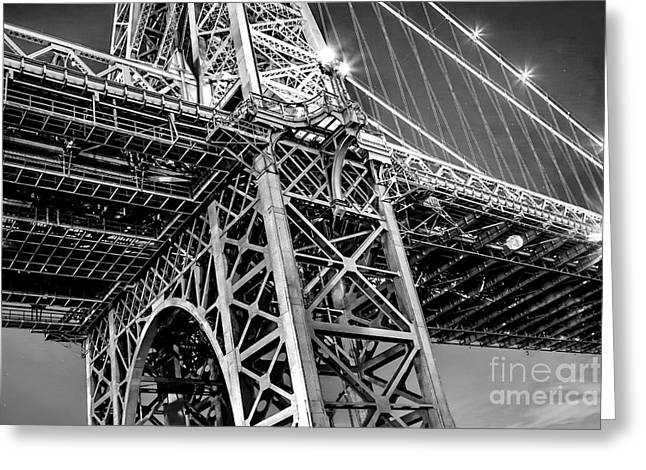 Mood Greeting Cards - Williamsburg Bridge 5 Greeting Card by Az Jackson