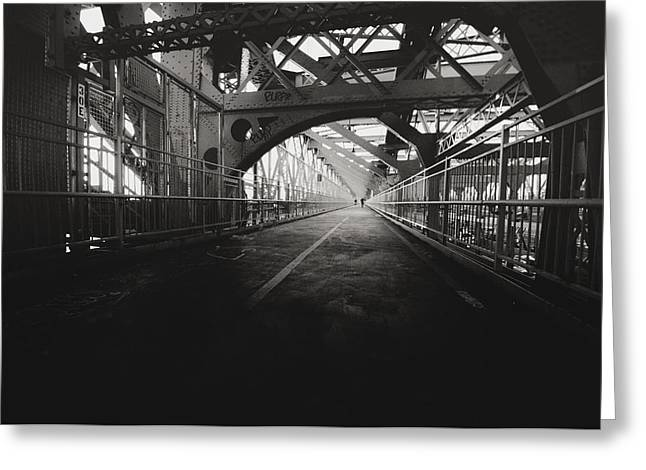 Williamsburg Greeting Cards - Williamsburg Bridge - New York City Greeting Card by Vivienne Gucwa